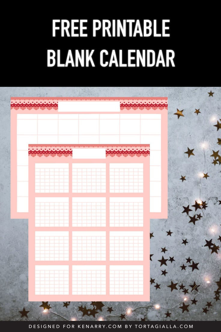 Preview of blankly monthly and year calendar templates on concrete floor with gold stars and light decoration.