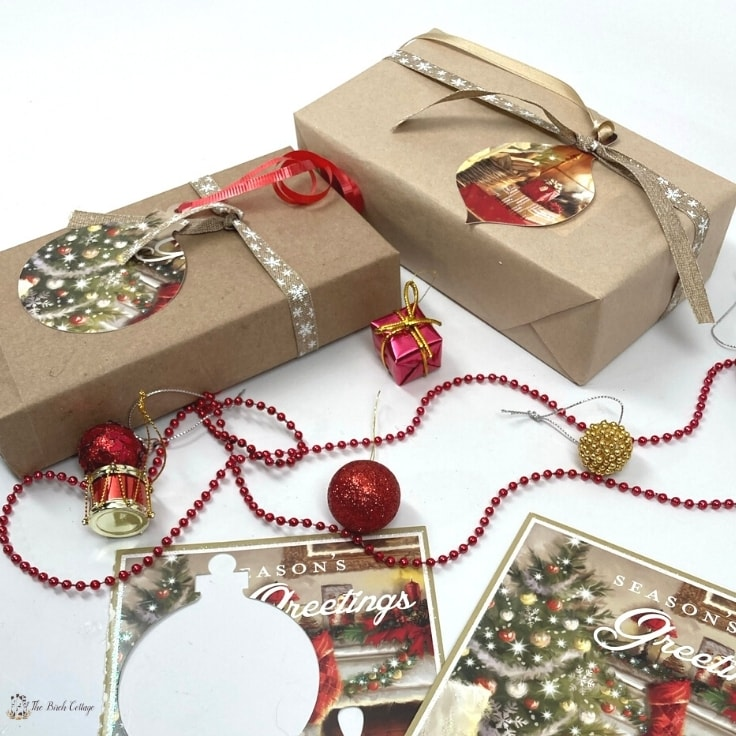 Recycle Christmas Cards to Make Gift Tags