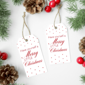 Have Yourself a Merry Little Christmas Gift Tags from The Birch Cottage