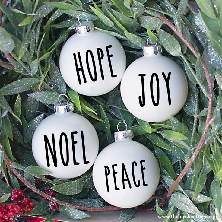 DIY Rae Dunn Christmas Ornaments & 20 FREE SVG Files