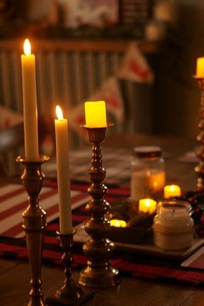 Brass Candlestick Display