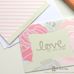 Valentine's Day cards from The Birch Cottage Blog.