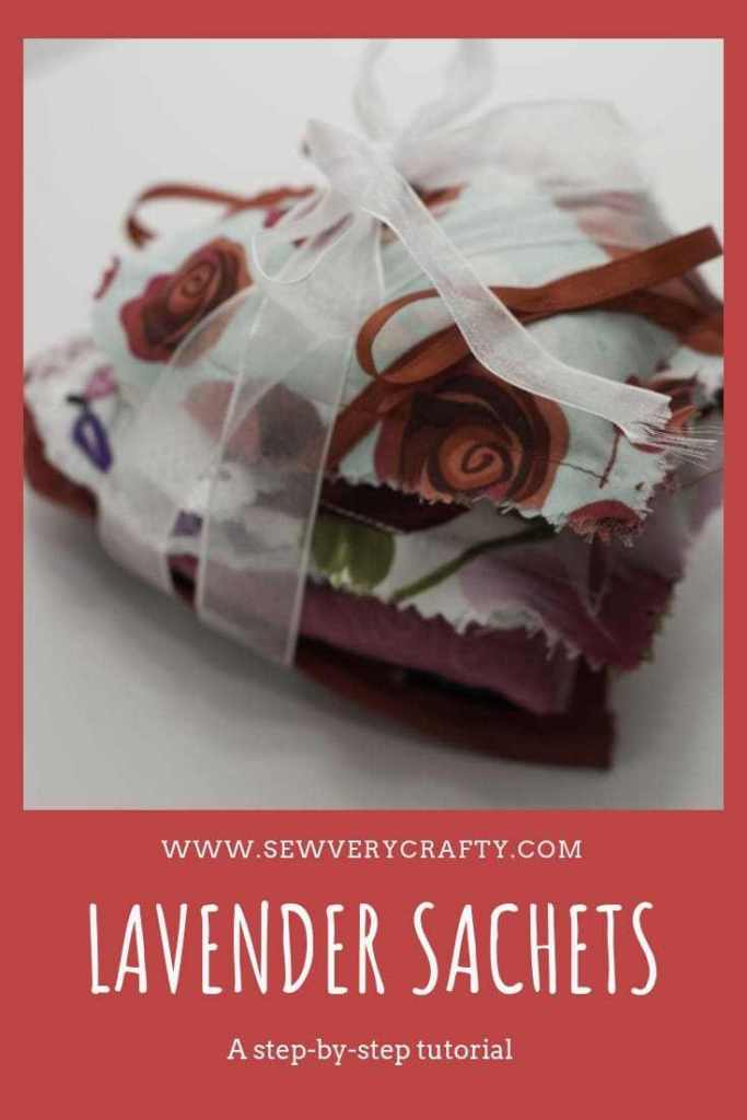 Stack of fabric lavender sachets from Sew Very Crafty.