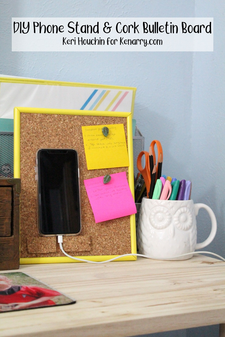 DIY Phone Stand and Cork Bulletin Board