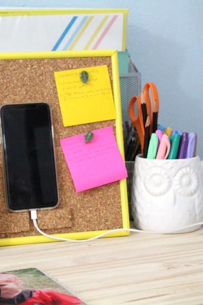 DIY phone stand desktop organizer