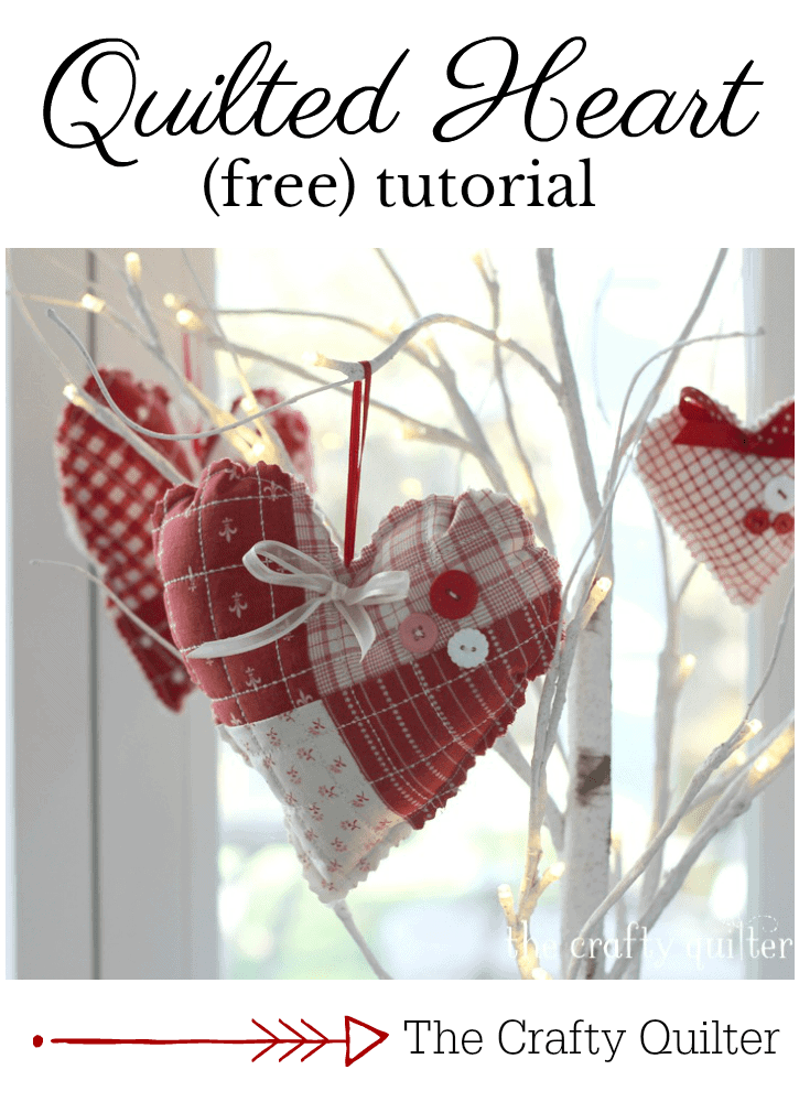 Quilted Heart Sachet Free Tutorial from The Crafty Quilter