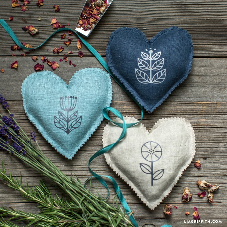 Scented Heart Sachets by Lia Griffith