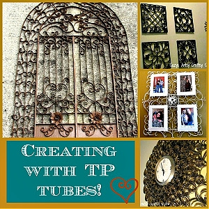 Fun projects made with toilet paper tubes from Suzy's Sitcom.