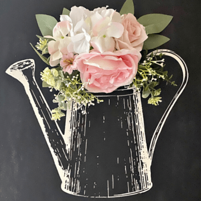 diy watering can chalkboard sign