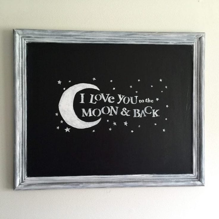 thrift store chalkboard sign from Our Crafty Mom