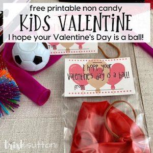 ball valentine card printable from Trish Sutton