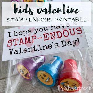 ink stamp valentine cards from Trish Sutton