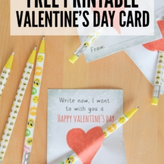 Free Printable Valentine's Day Card for kids to use with pens or pencils