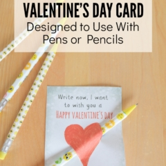 Free Printable Valentine's Day Card designed to use with pens or pencils