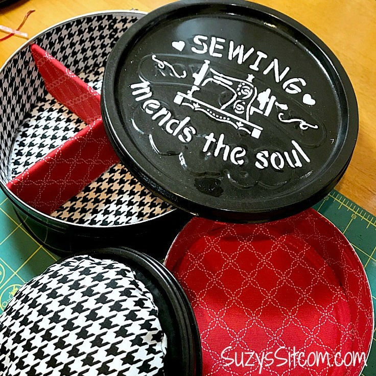 DIY Cookie Tin Sewing Kit: How To Upcycle Cookie Tins