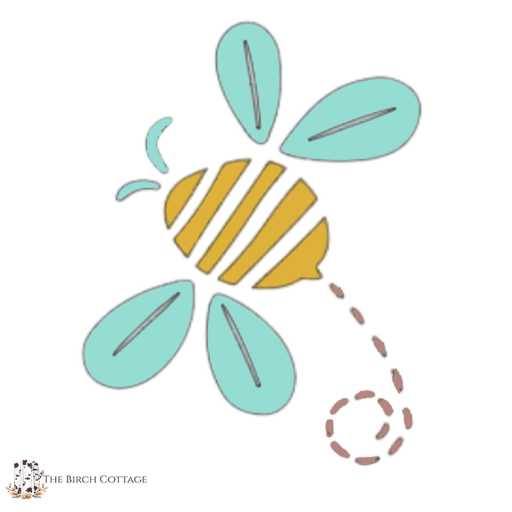 A cute bee SVG file.