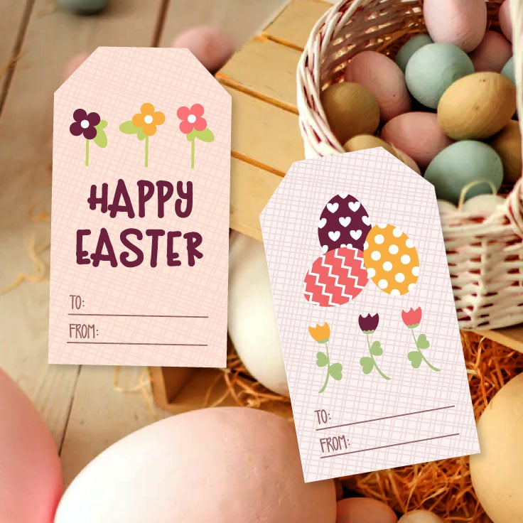 View pastel decorative eggs with preview of floral and egg design motifs.