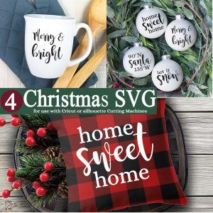 SVG Christmas designs from The Birch Cottage.
