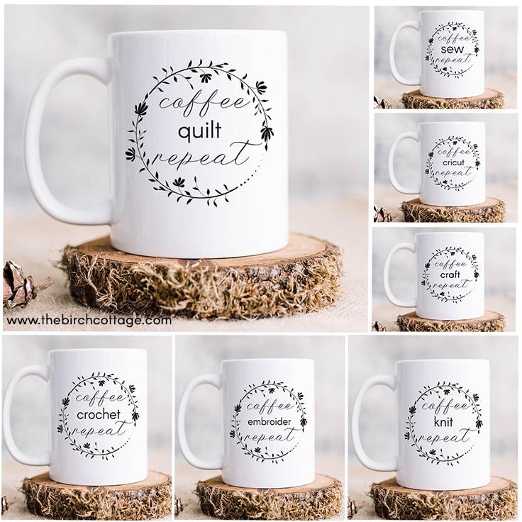 7 Coffee Craft Repeat SVG Cut Files