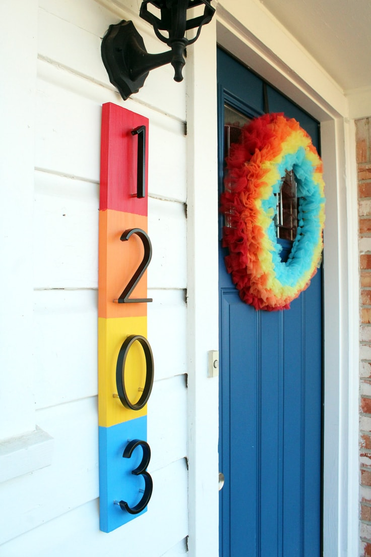 Closeup of house numbers