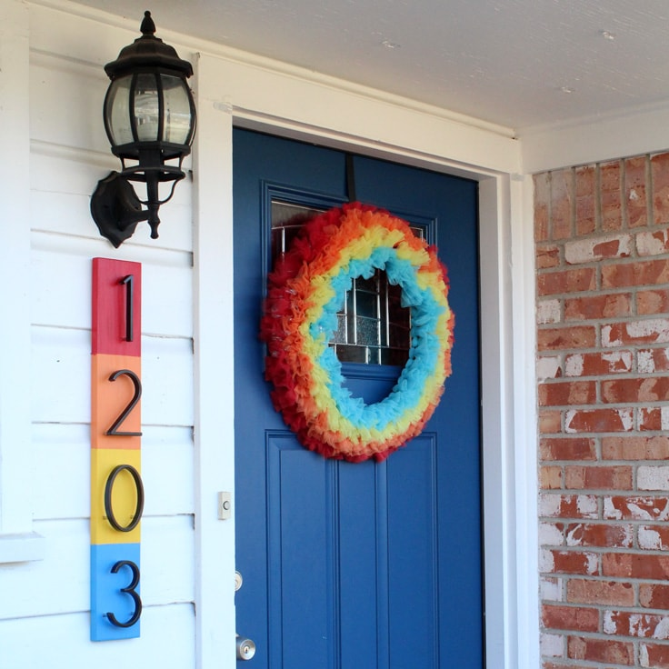 DIY Modern House Numbers Sign for Your Front Porch
