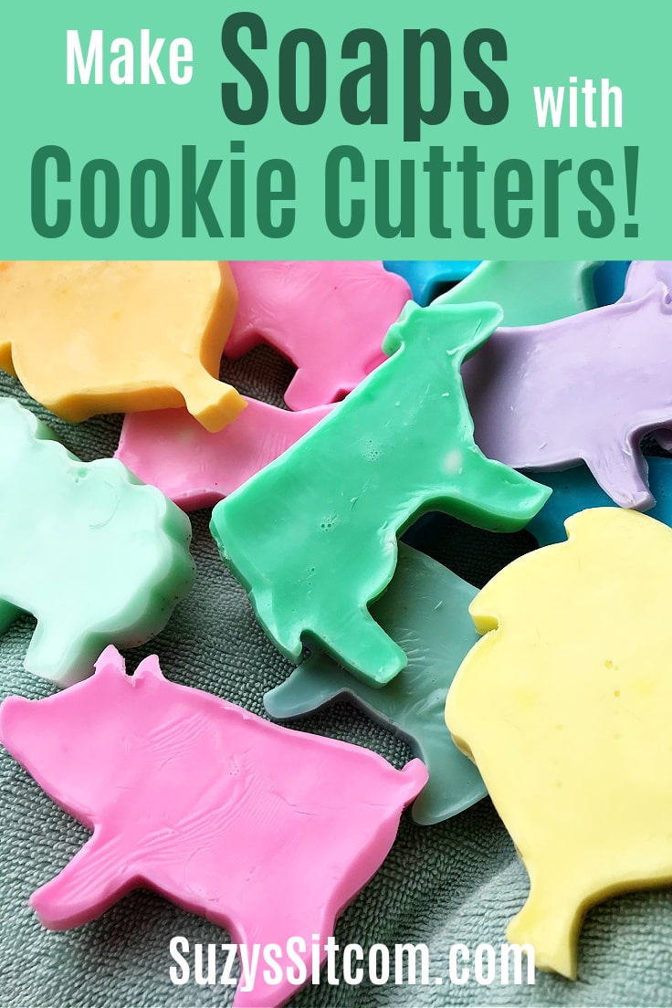 Make pastel animal-shaped soaps with cookie cutters.