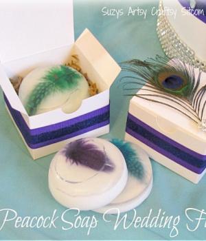 Peacock soap wedding favor from Suzy's Sitcom.