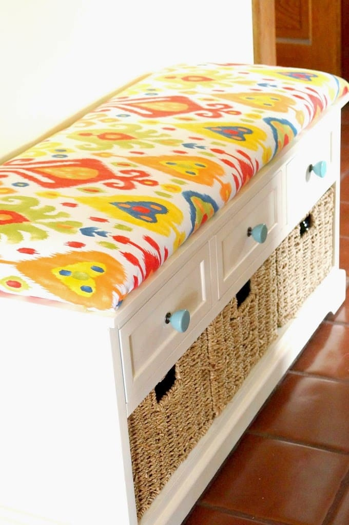 DIY no-sew bench cushion from Old House to New Home.