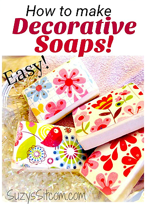 How to make decorative soaps from Suzy's Sitcom.
