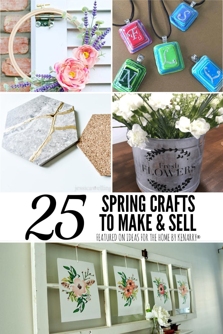 25 spring crafts to make and sell.