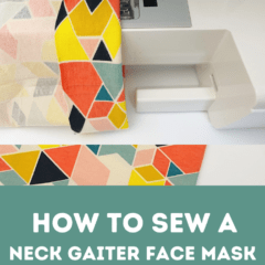 Learn how to sew a neck gaiter face mask with one piece of fabric. Neck gaiters are a great option for face masks, you can wear them around your neck and pull them up as needed. You can never have enough face masks, keep them in your car, purse, or bag so that you always have them on hand.