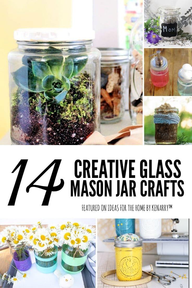 14 creative glass mason jar craft ideas.