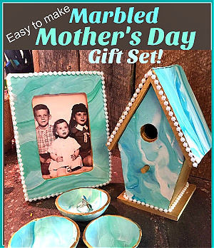 Marbled Mother's Day gift set from Suzy's Sitcom.