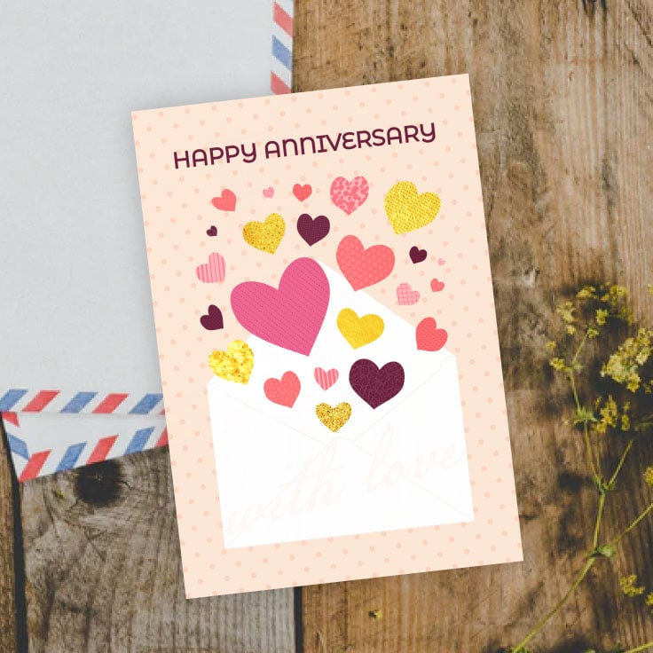 Printable Happy Anniversary Card Freebie