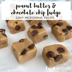 Peanut butter and chocolate chip fudge from Trish Sutton.