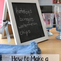 How to make a chalkboard easel.