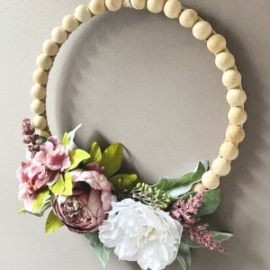 Wood bead wreath from Our Crafty Mom.