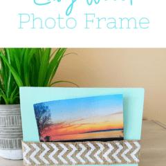 Easy wood photo frame.