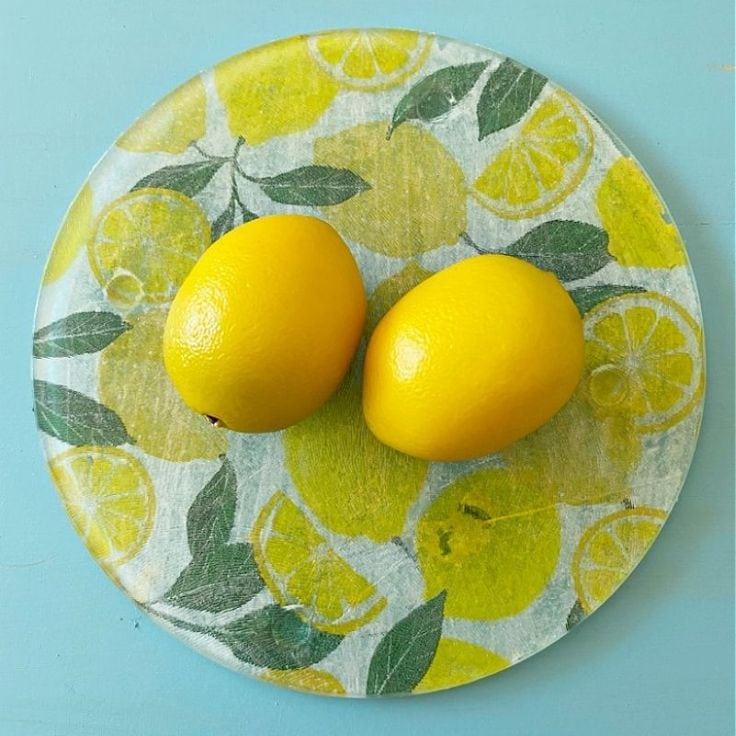 How To Make A Lemon Dollar Tree Glass Cutting Board Craft