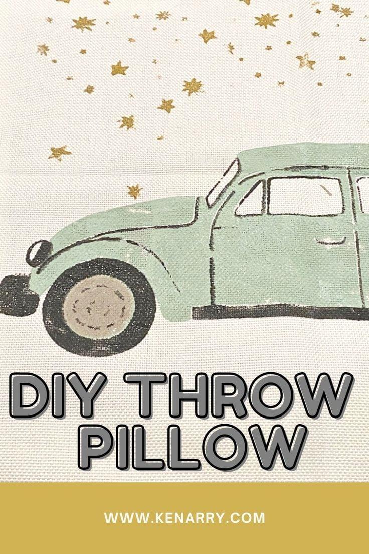 DIY throw pillow.