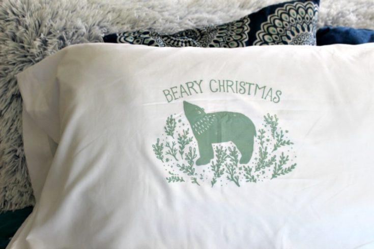 beary Christmas DIY pillow