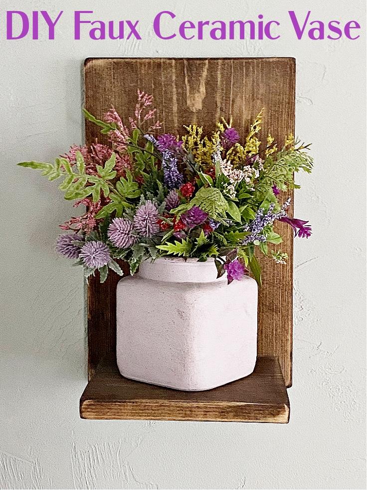 DIY faux ceramic vase.