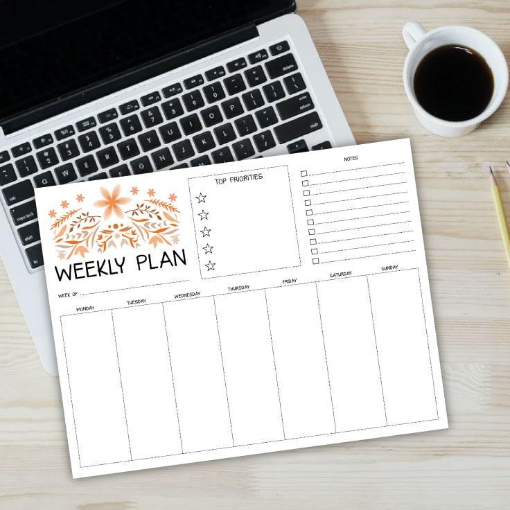 Free Weekly Planner Printables – Undated
