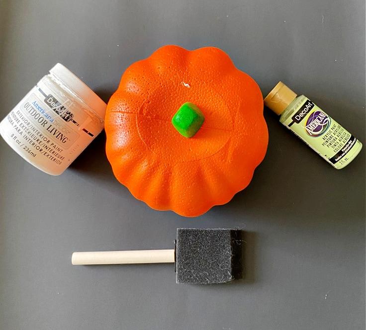 diy cactus pumpkin supplies