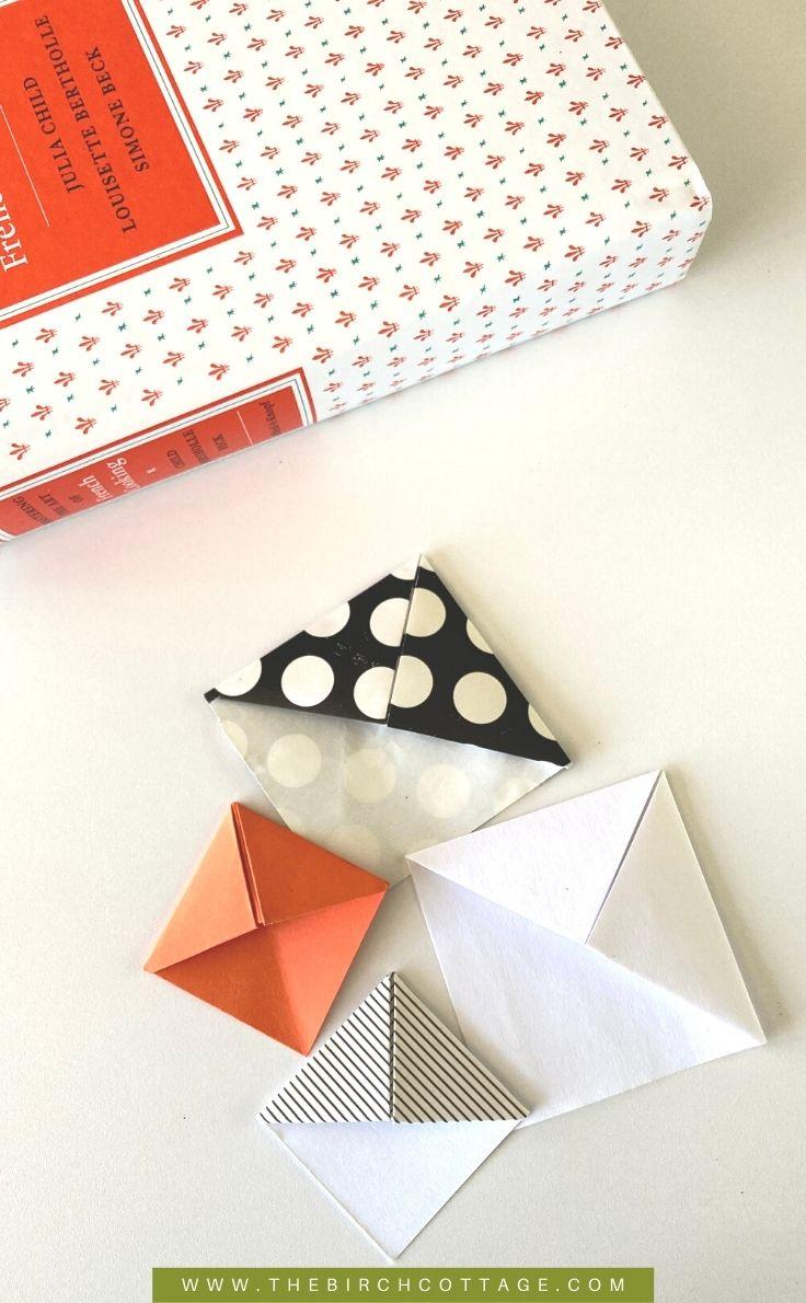 4 corner origami bookmarks