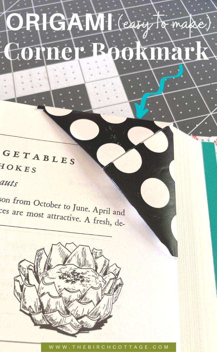 Origami corner bookmark.