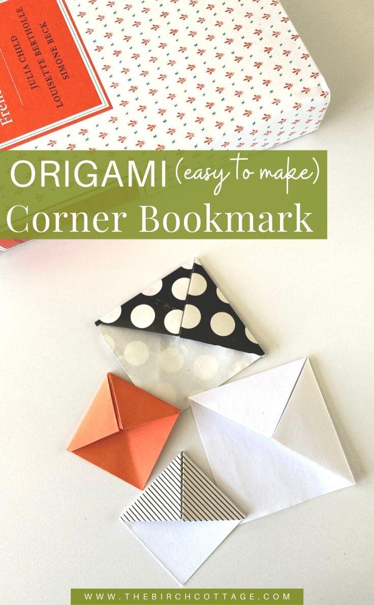 Origami (easy to make) corner bookmark.