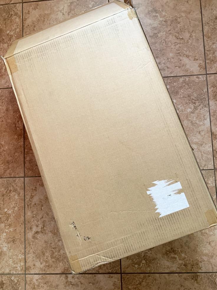 A large cardboard box.