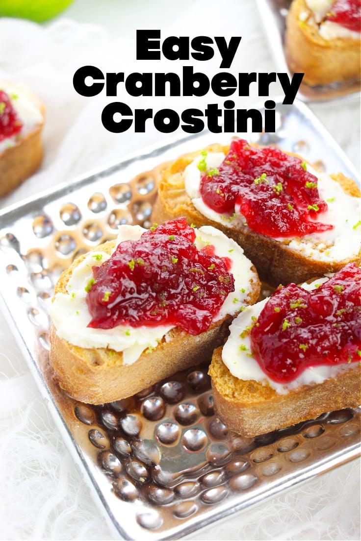 Easy cranberry crostini.