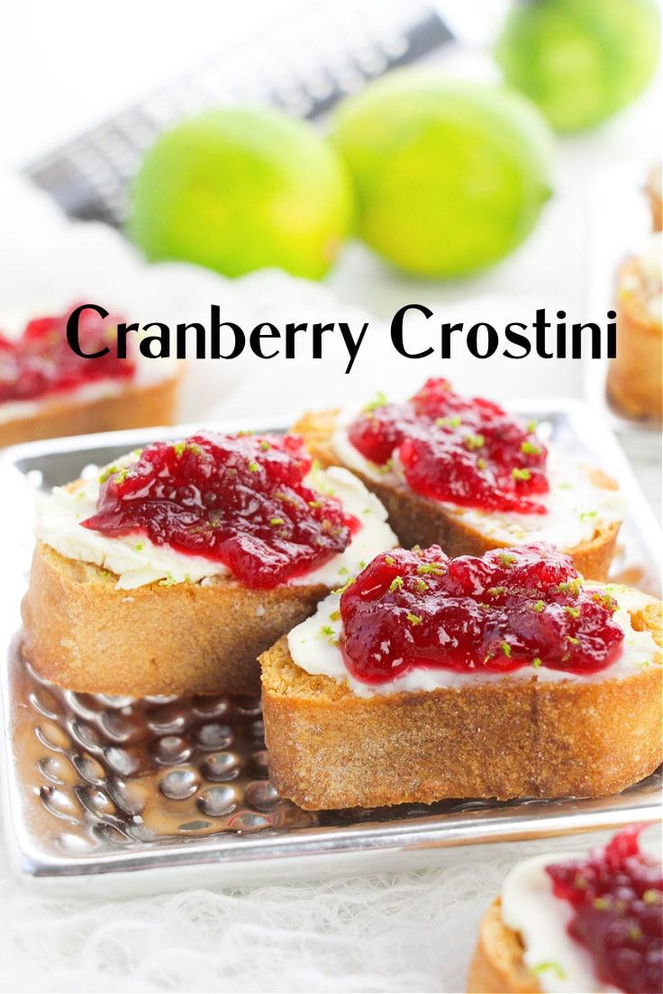 Cranberry crostini.